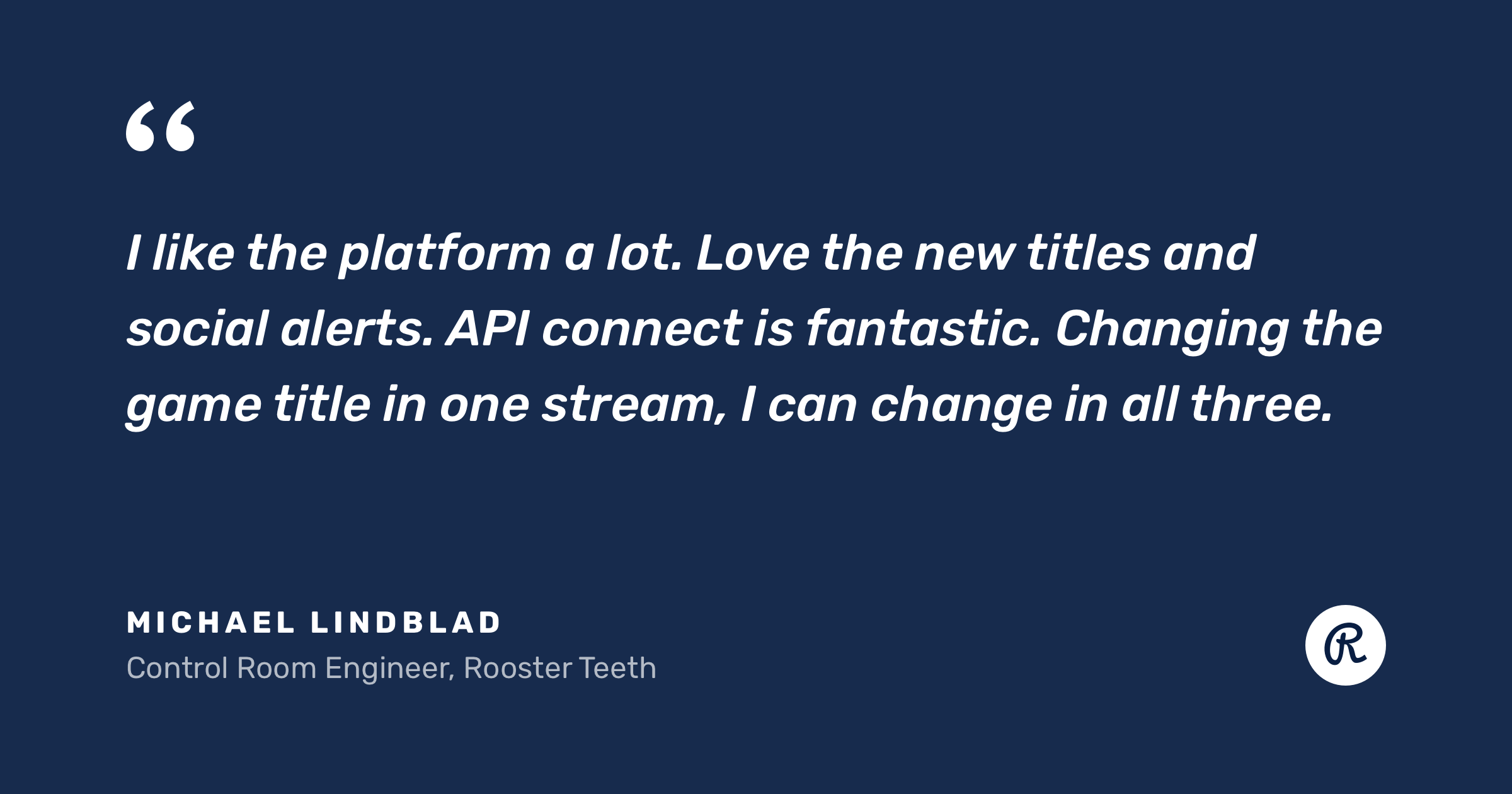 Quote about Restream features