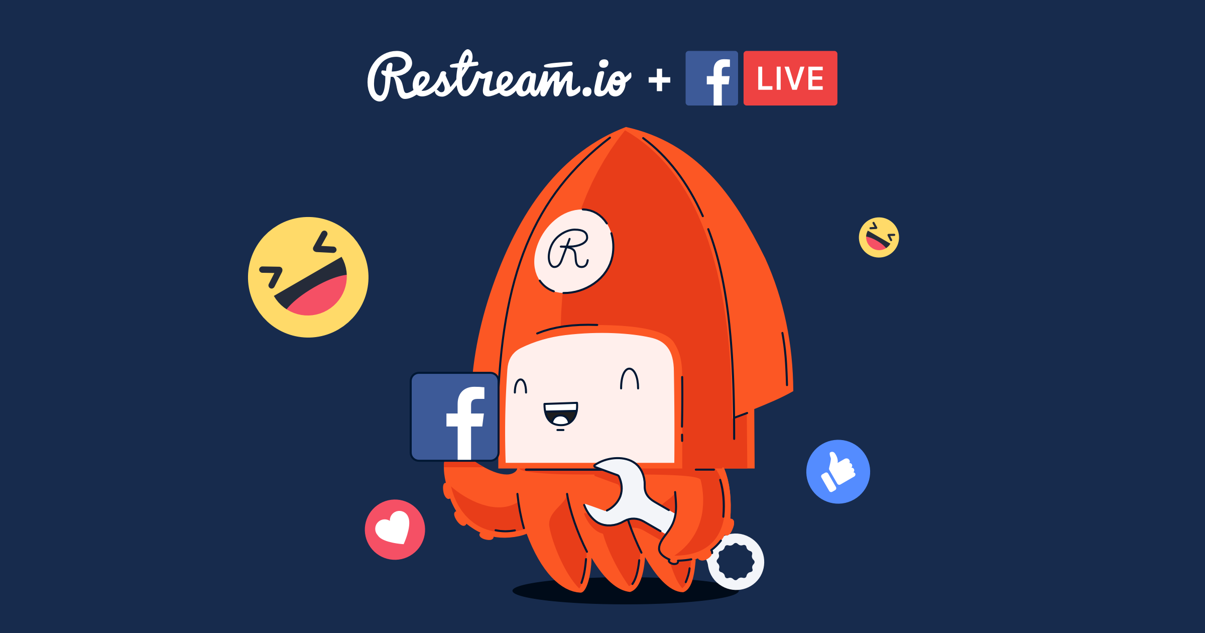 Restream supports streaming to the Facebook Live API