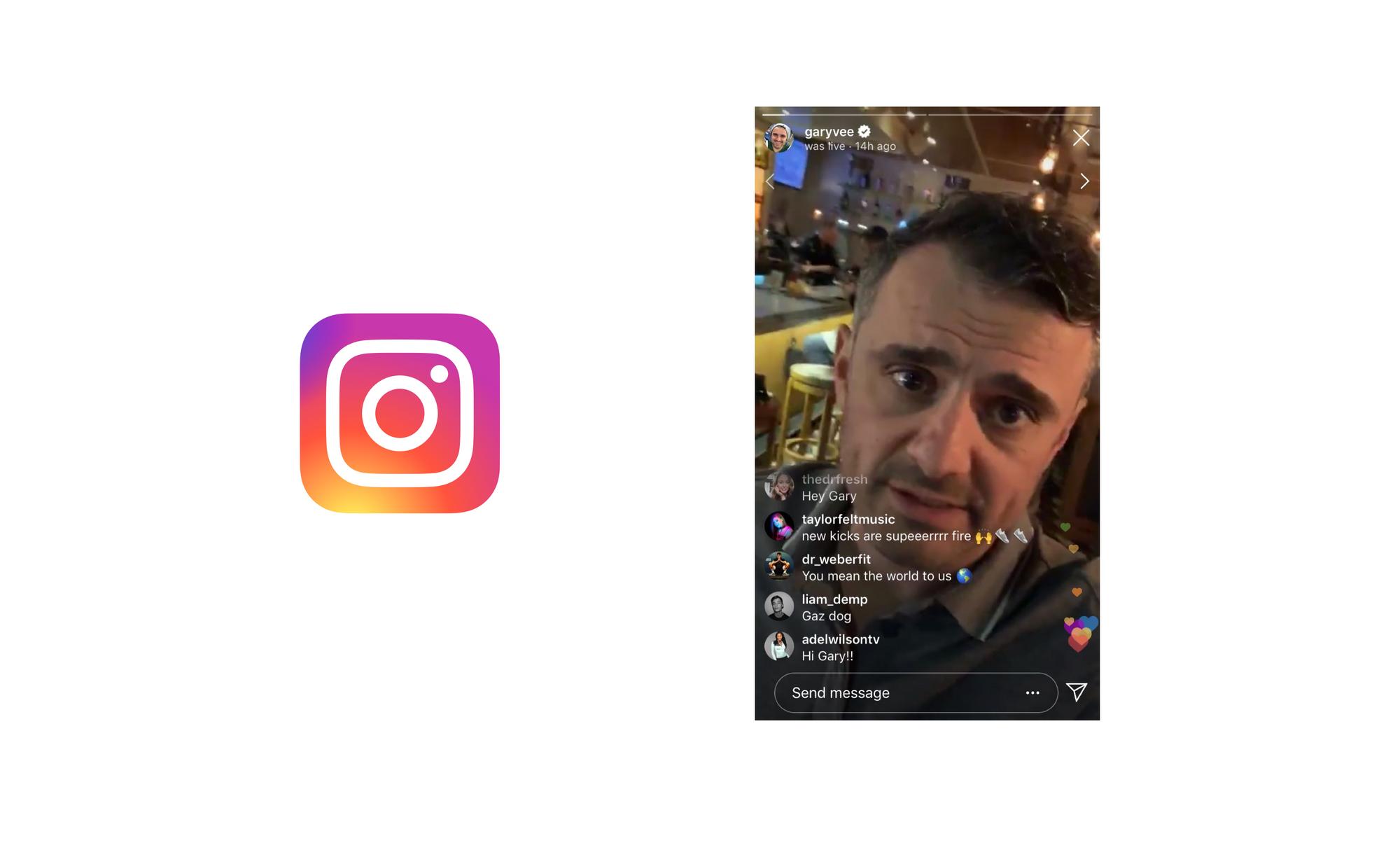 Instagram Live screenshot