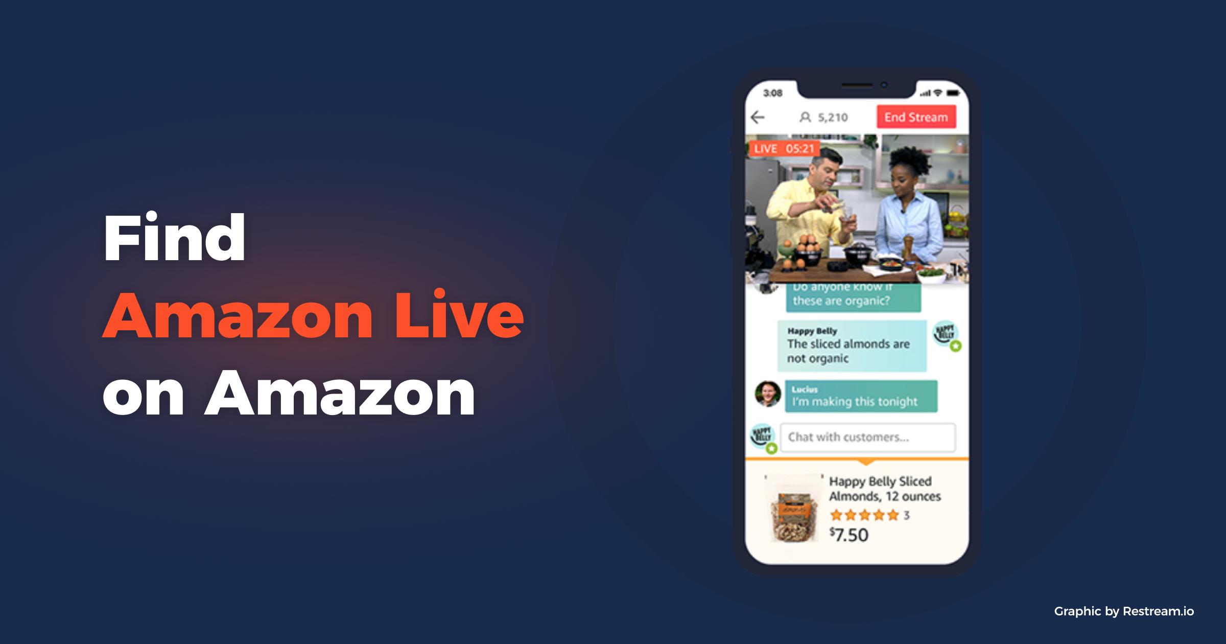 Amazon Live on Mobile app