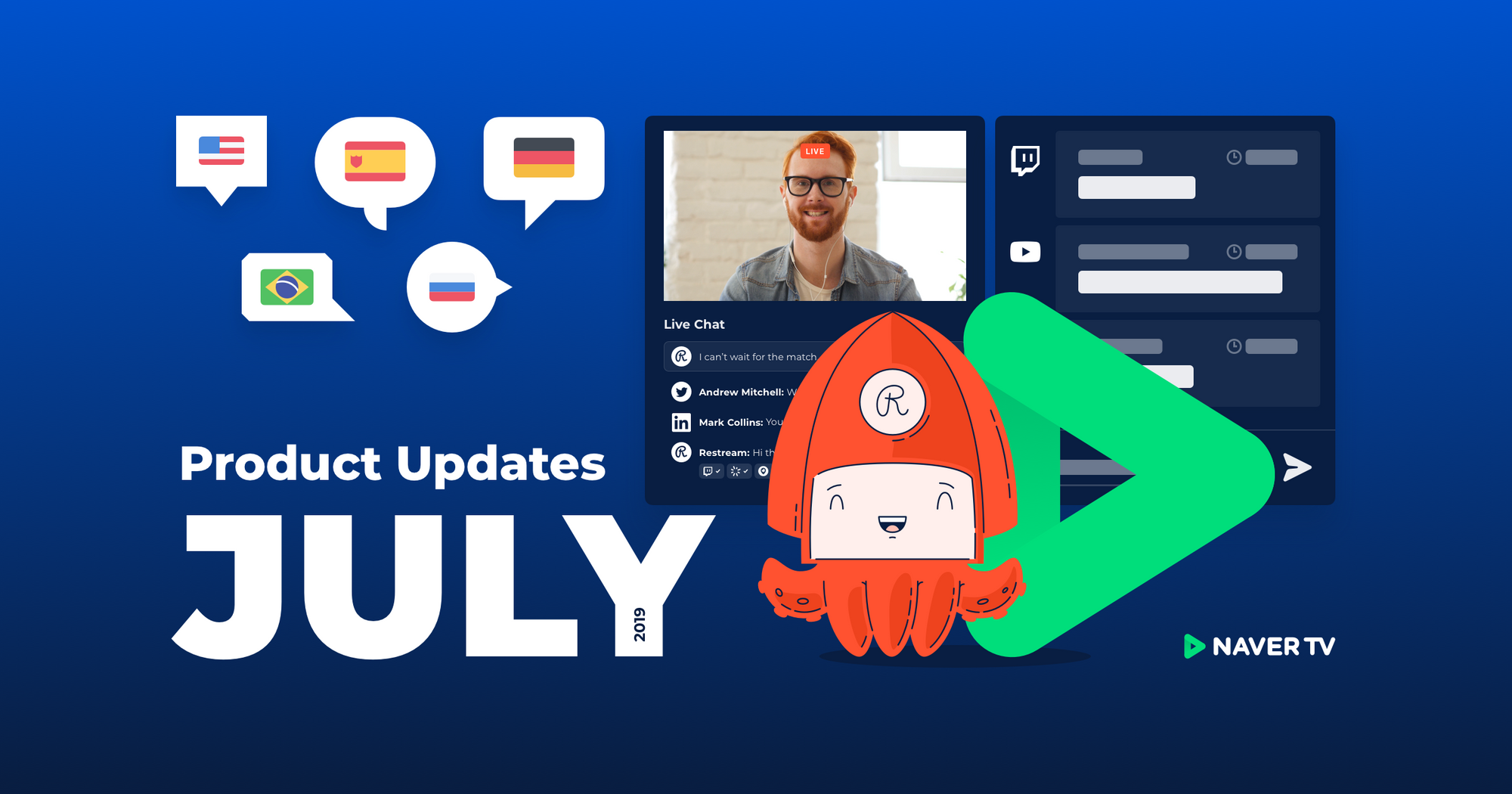 Restream July product updates
