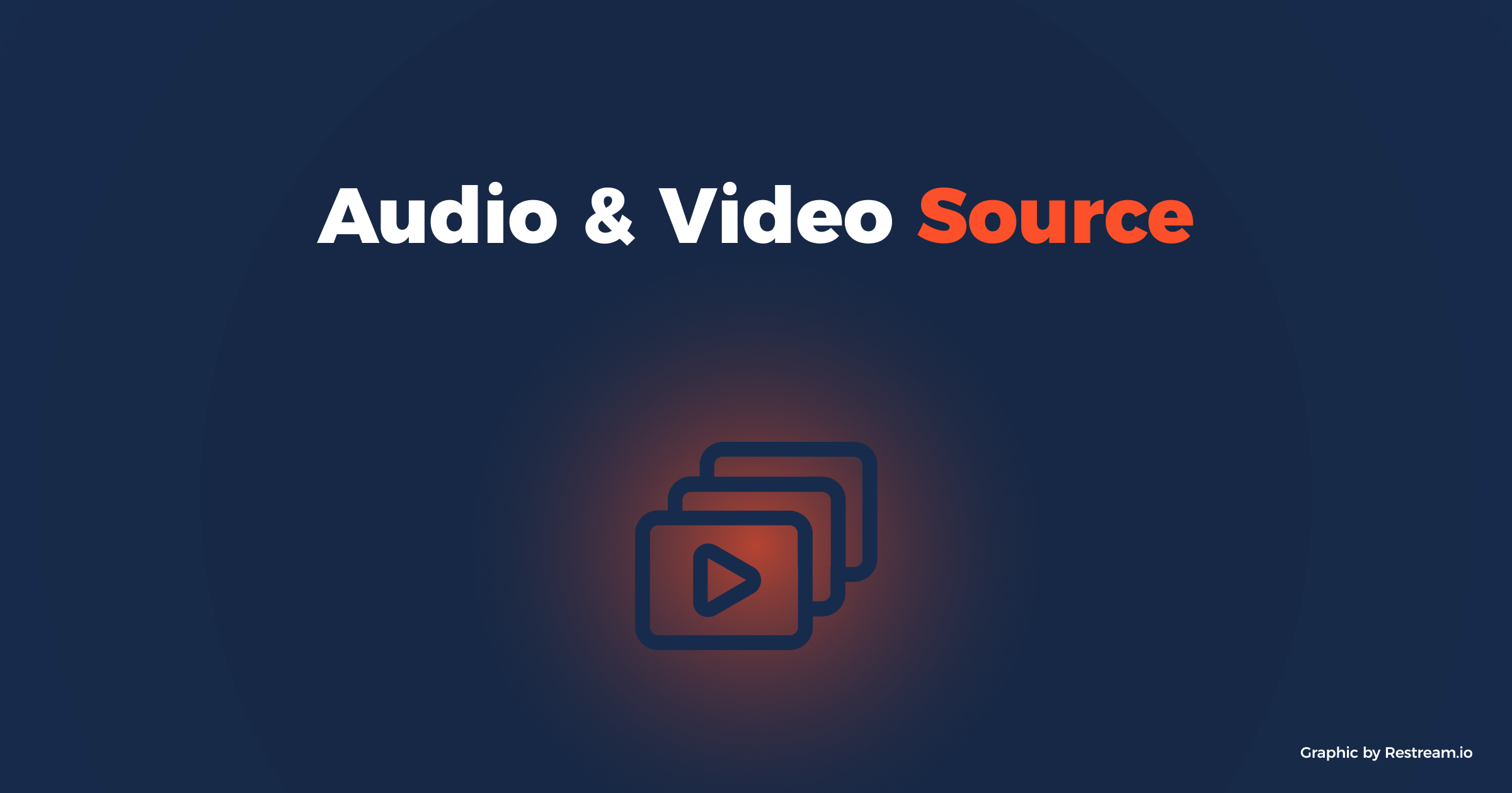 Streaming setup: audio and video source