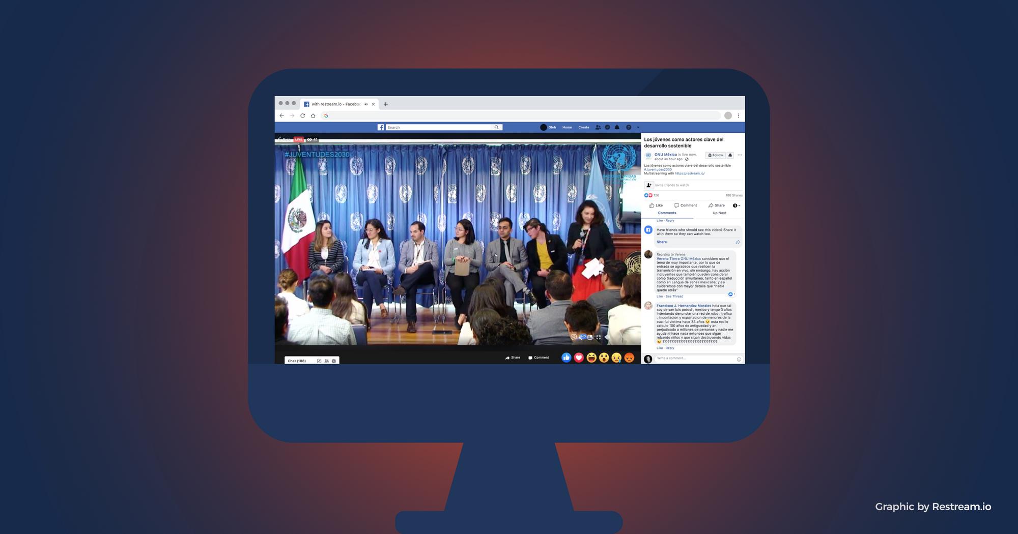 Facebook Live on the desktop