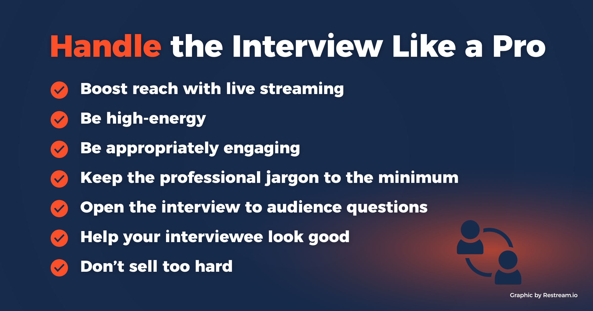Handle the Interview Like a Pro checklist