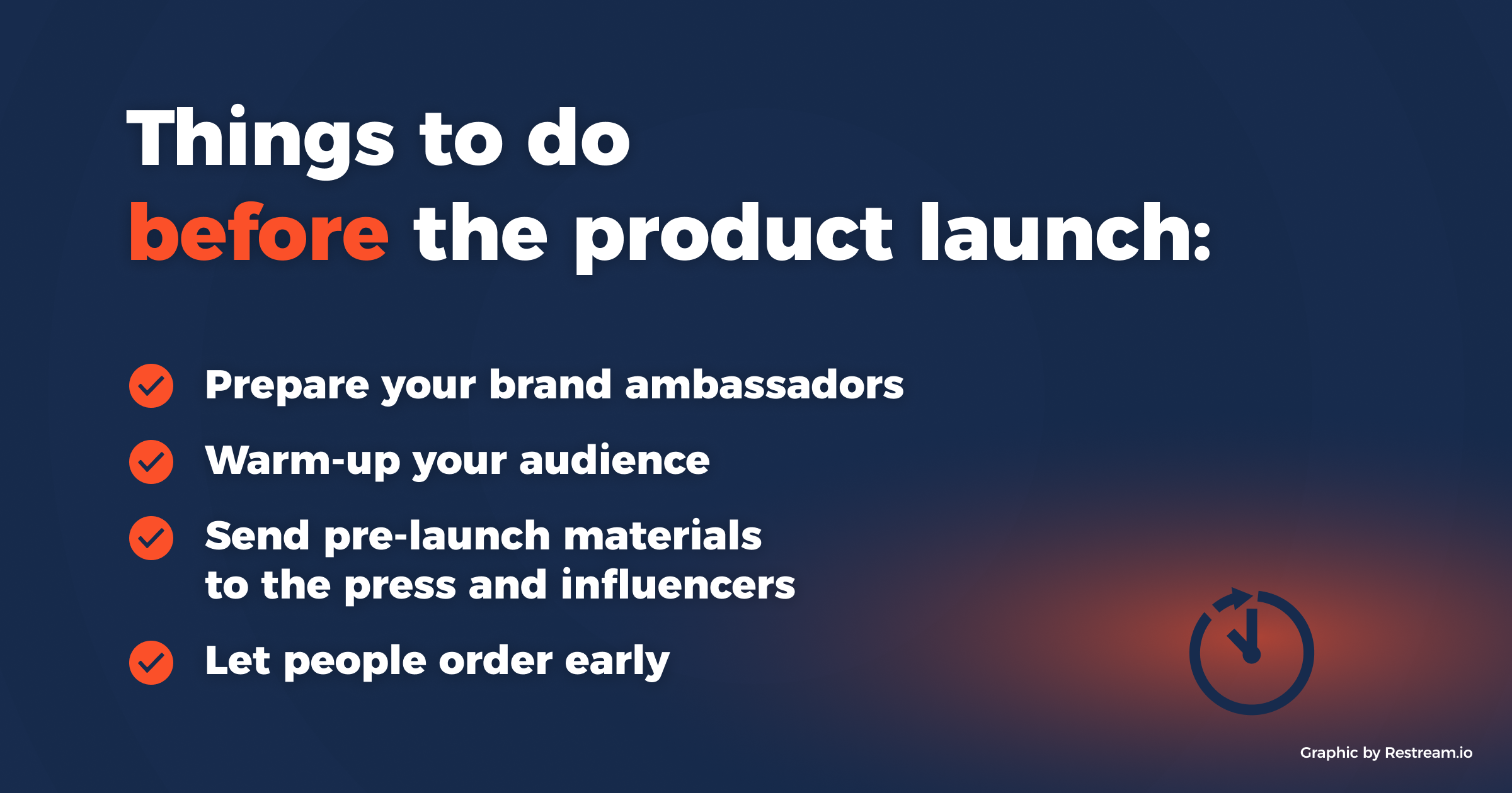 Things to do before the product launch
