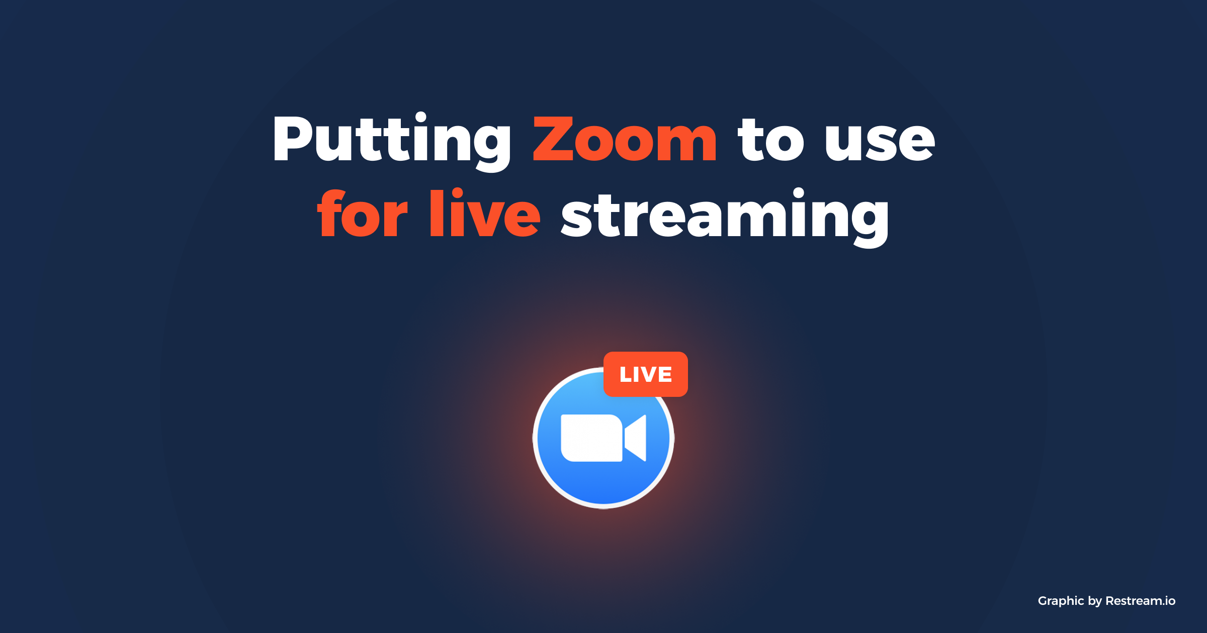 Putting Zoom to use for live streaming