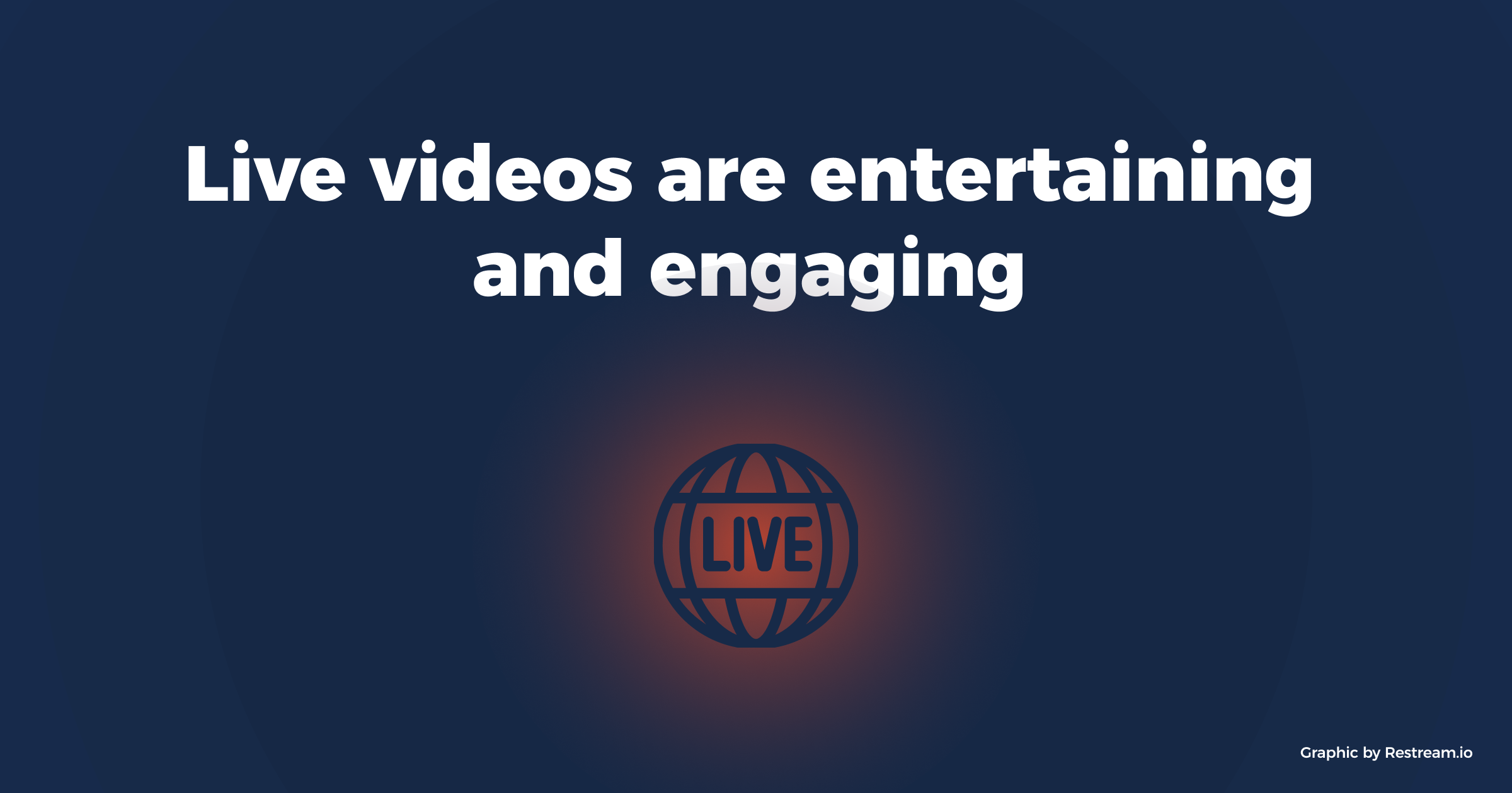 Live videos are entertaining and engaging