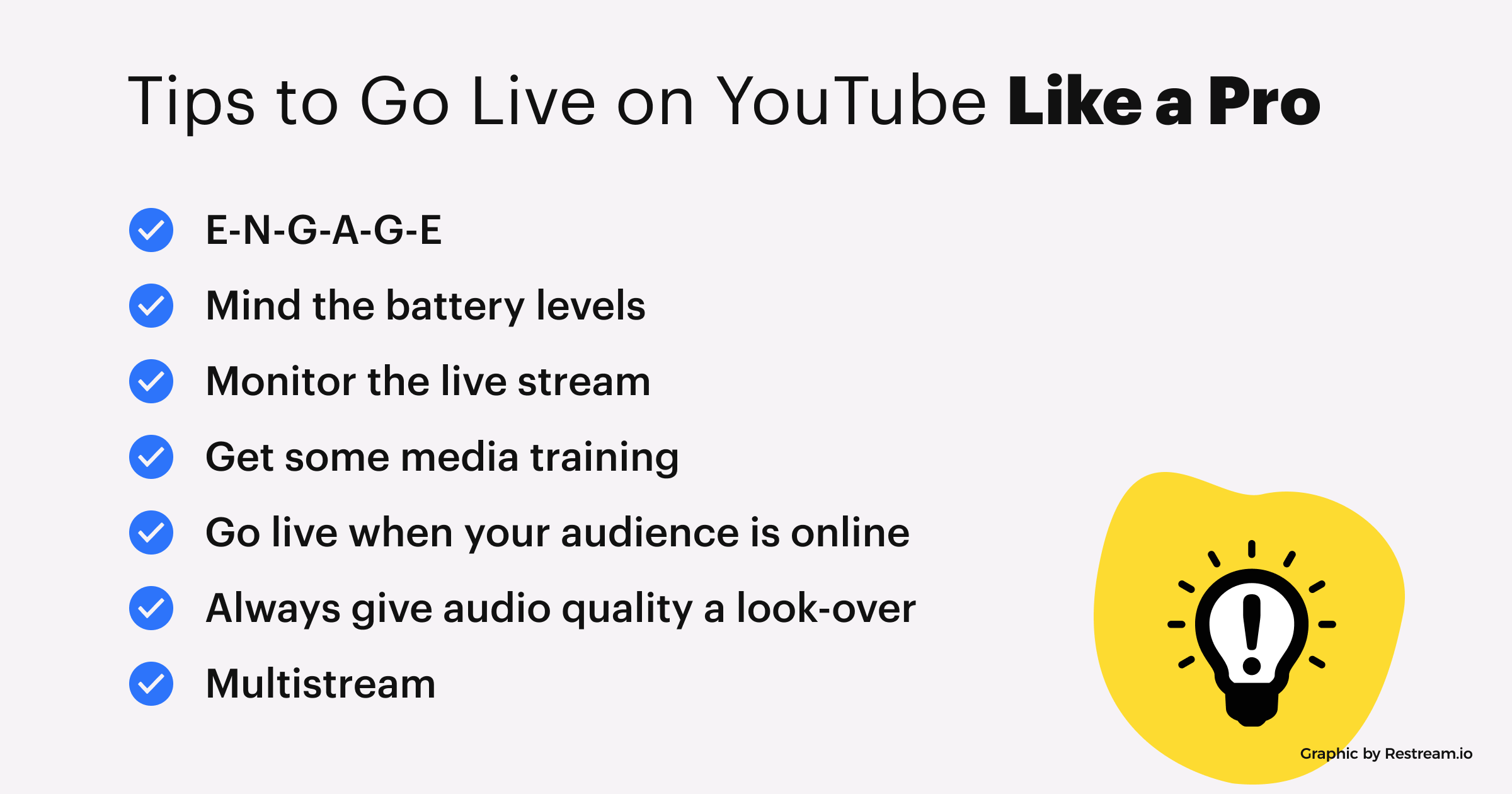 Tips to Go Live to YouTube Like a Pro