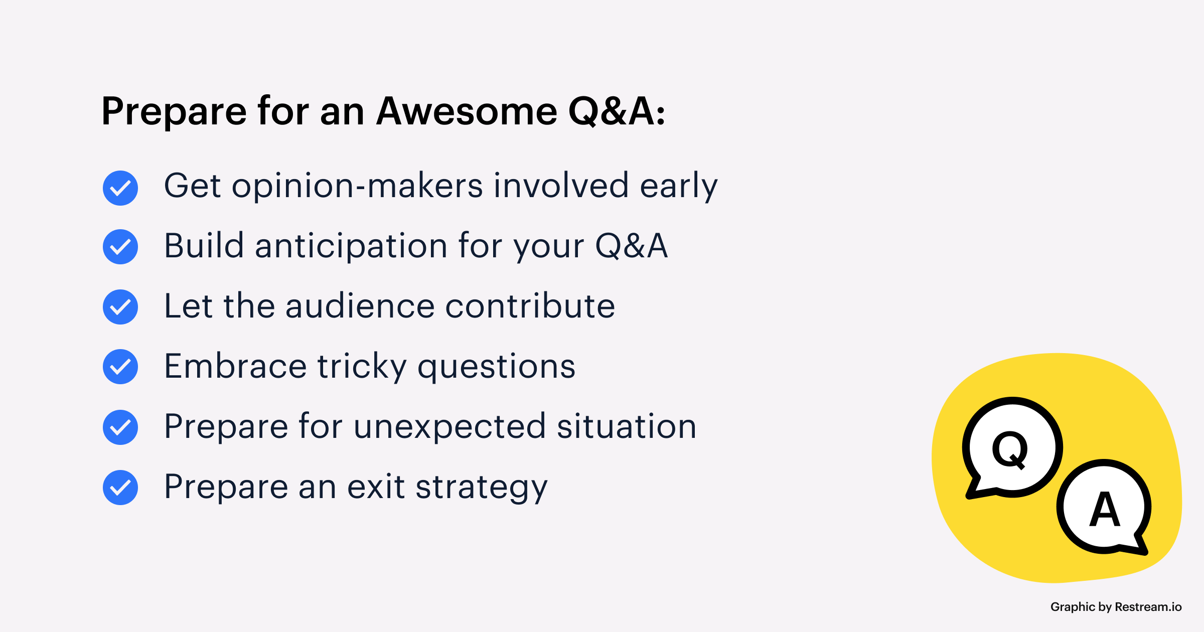 Prepare for a Q&A checklist