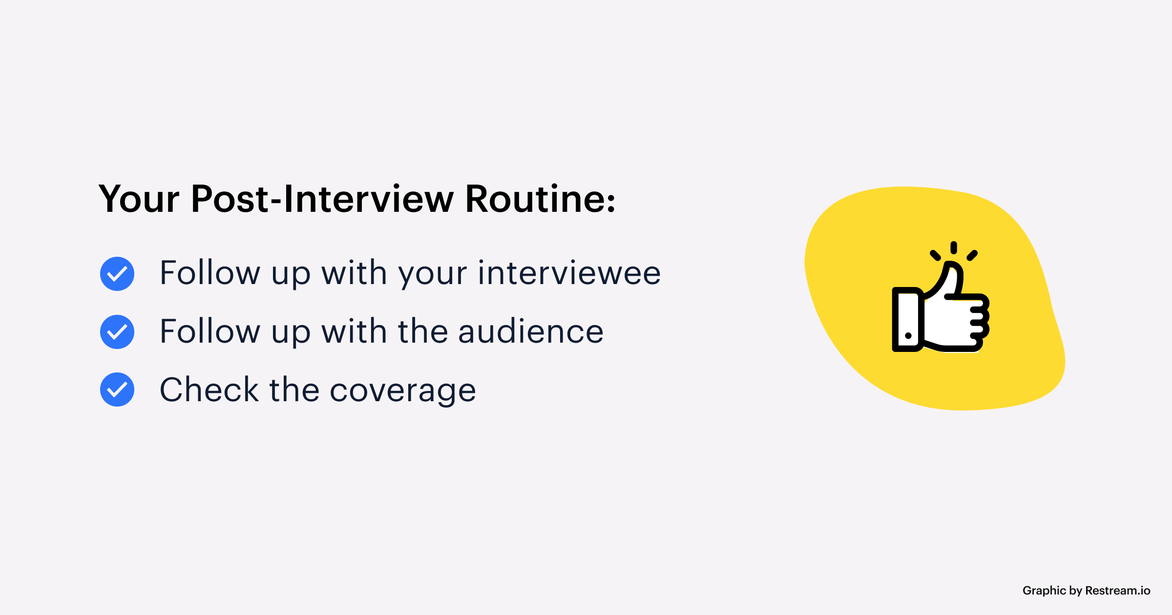 Your Post-Interview Routine checklist