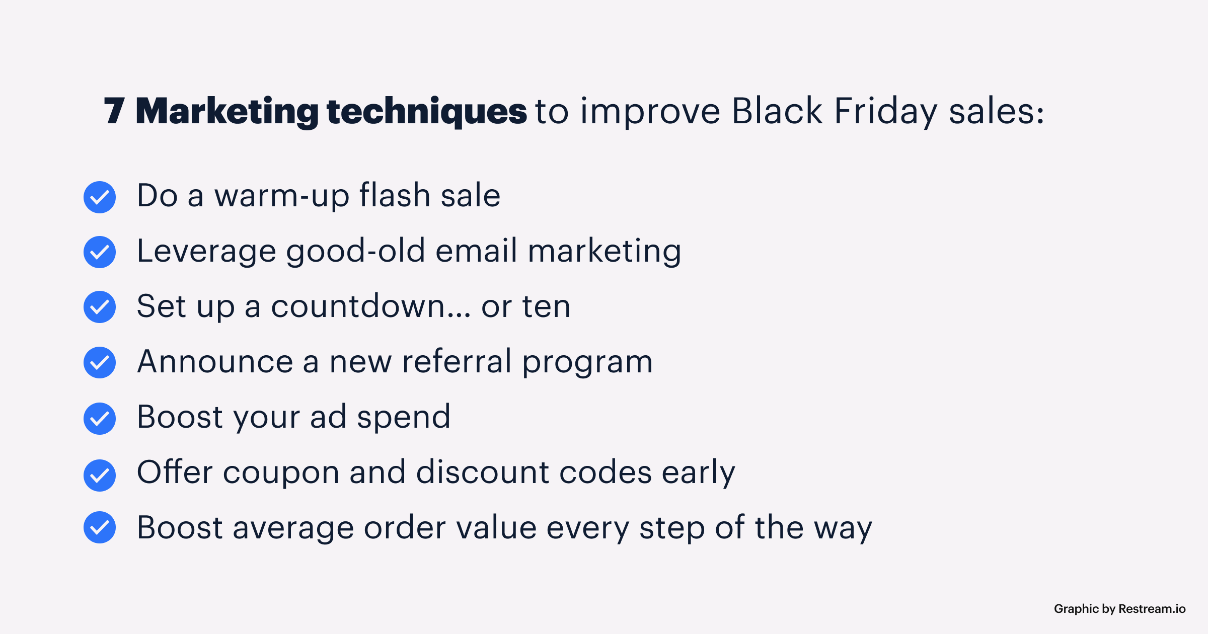 7 marketing techniques to improve Black Friday sales