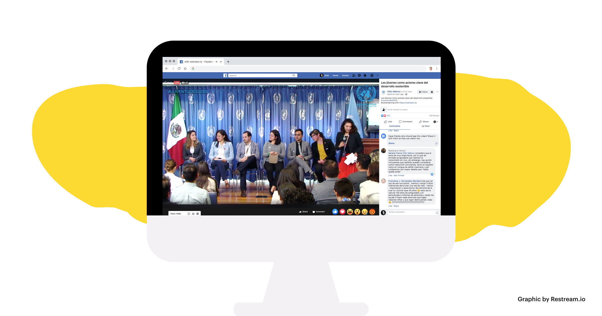 Facebook Live on the desktop