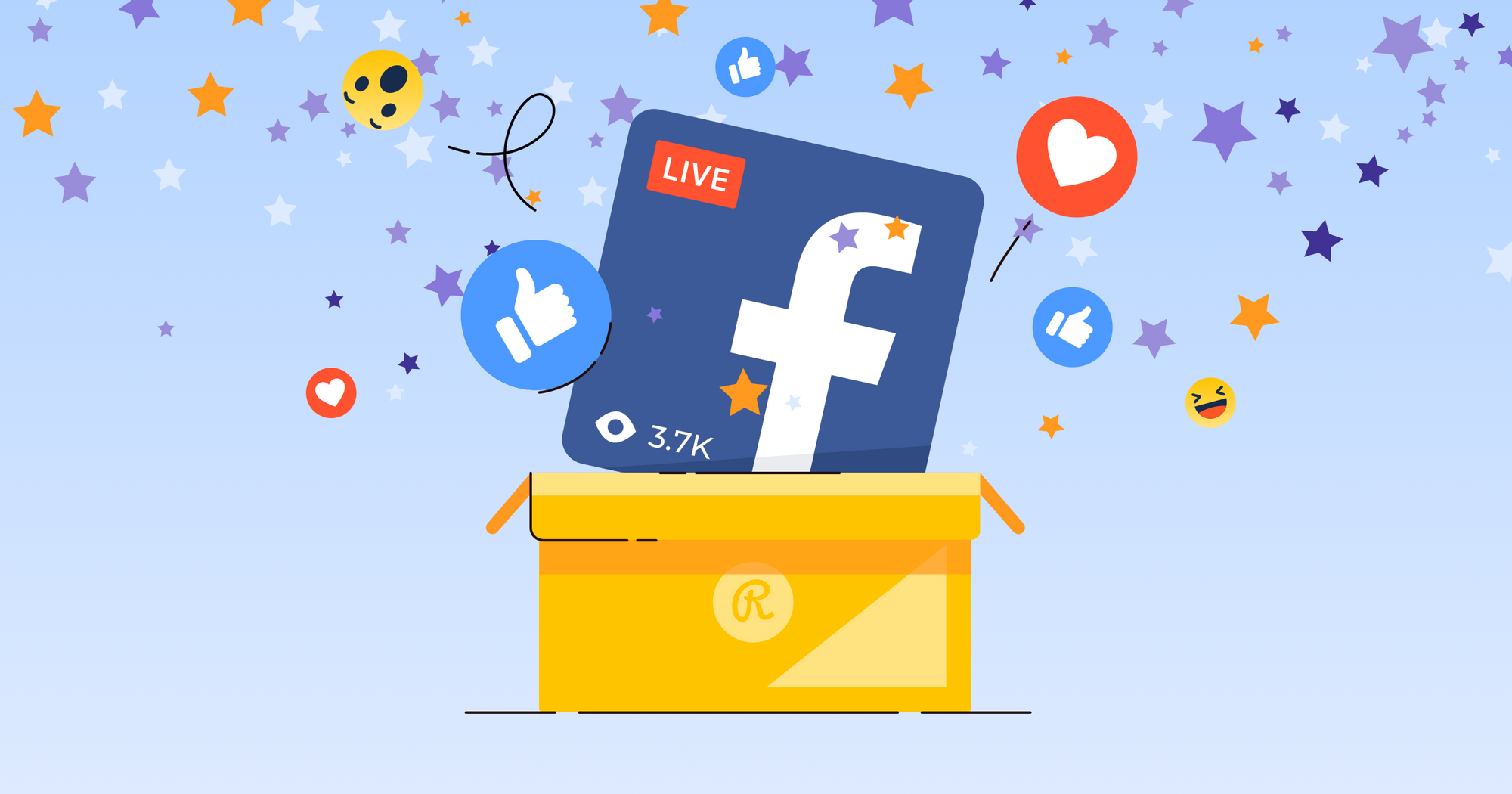 Facebook Live illustration