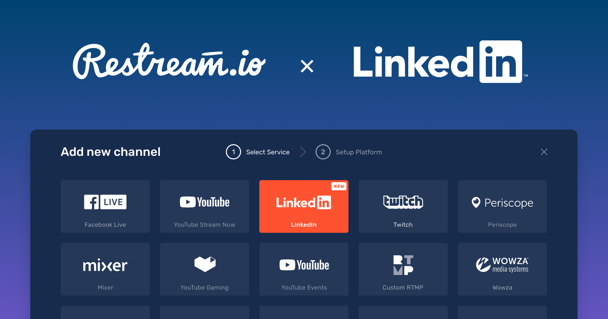 Search Results Web results Restream Partners with LinkedIn