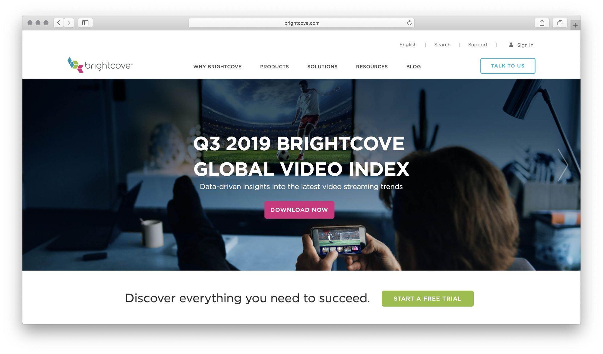 Brightcove screenshot
