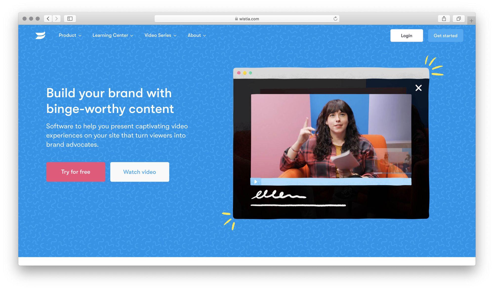 Wistia screenshot