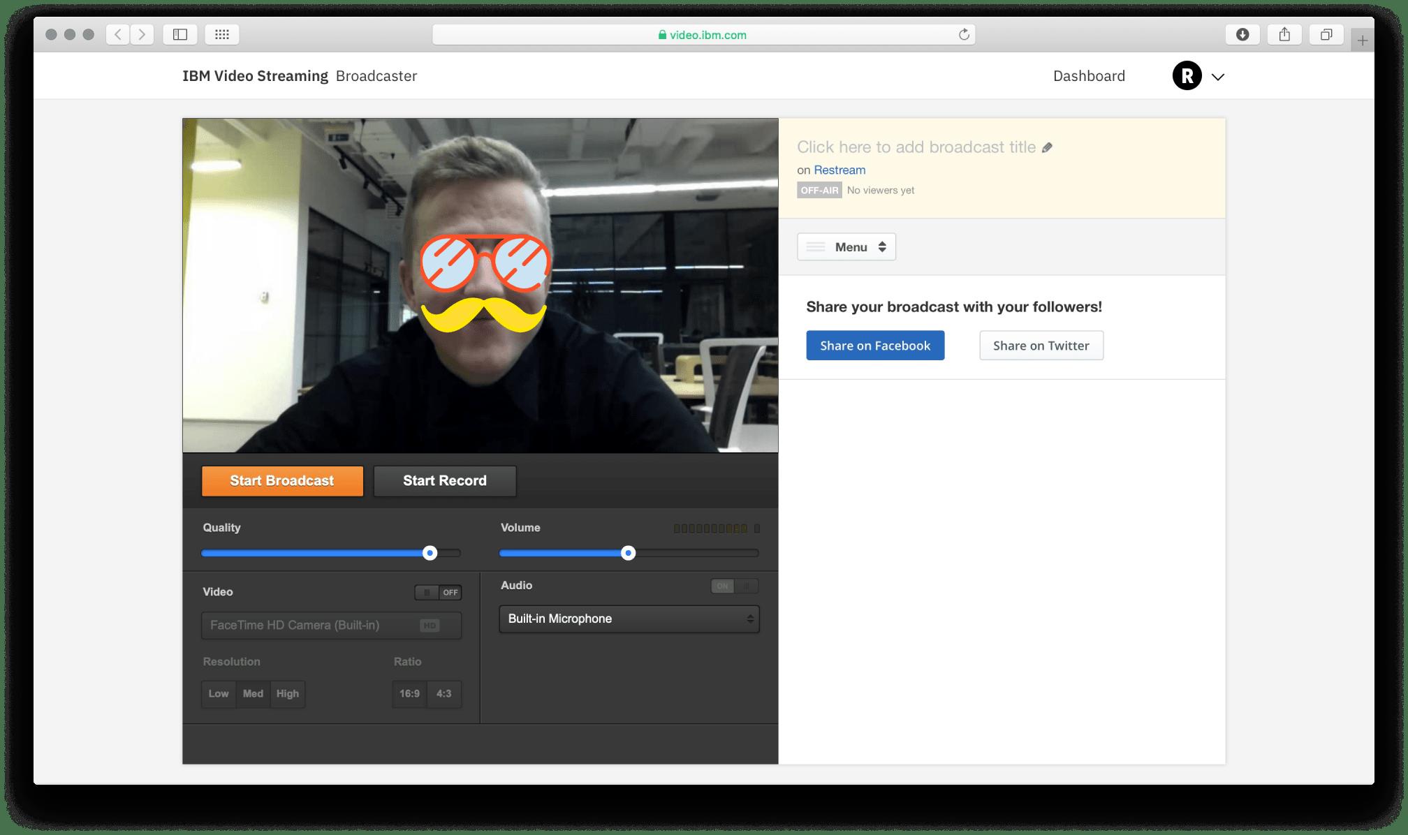 IBM video streaming screenshot