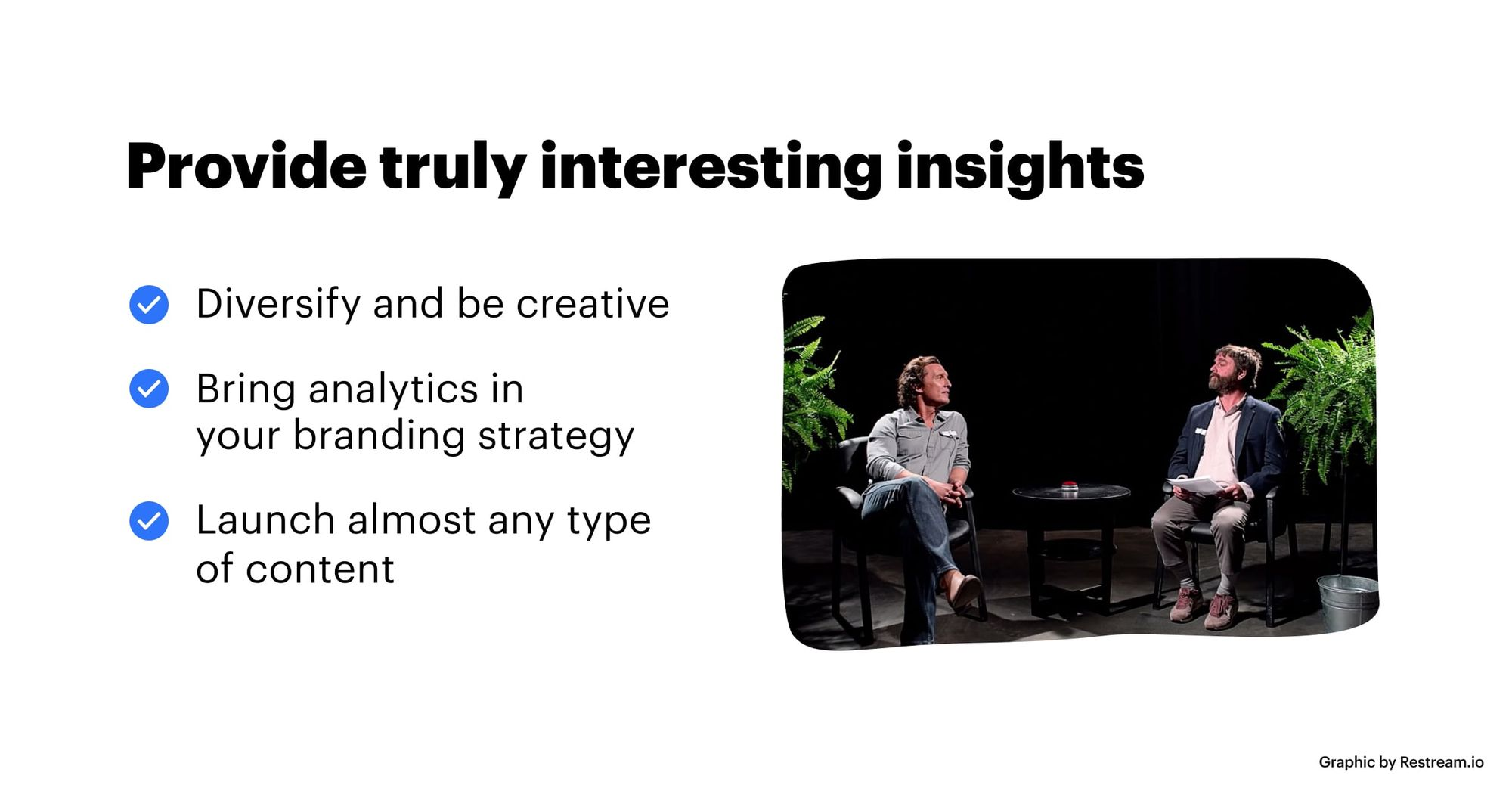 Provide truly interesting insights