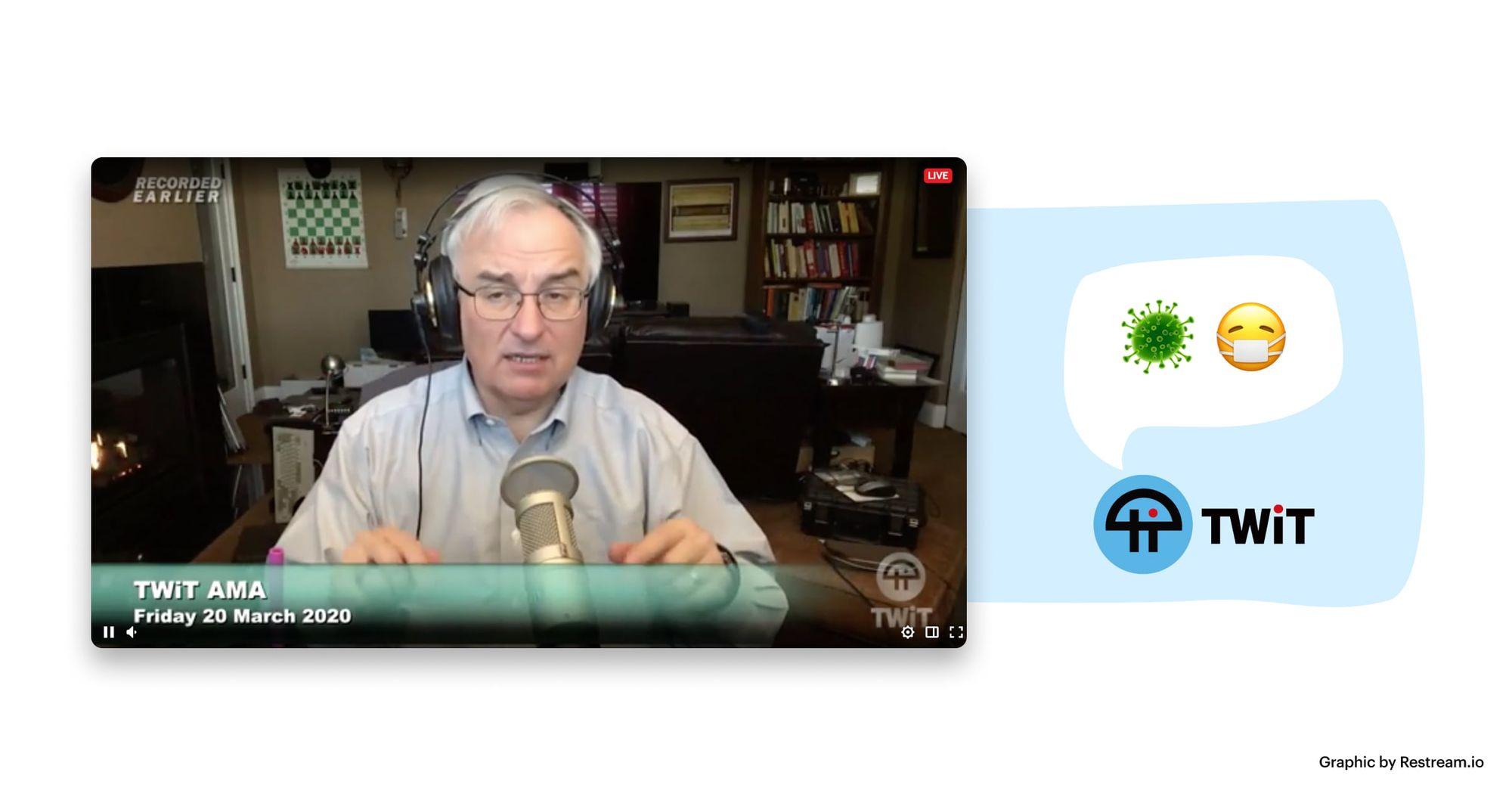 Screenshot from TWiT AMA live broadcast
