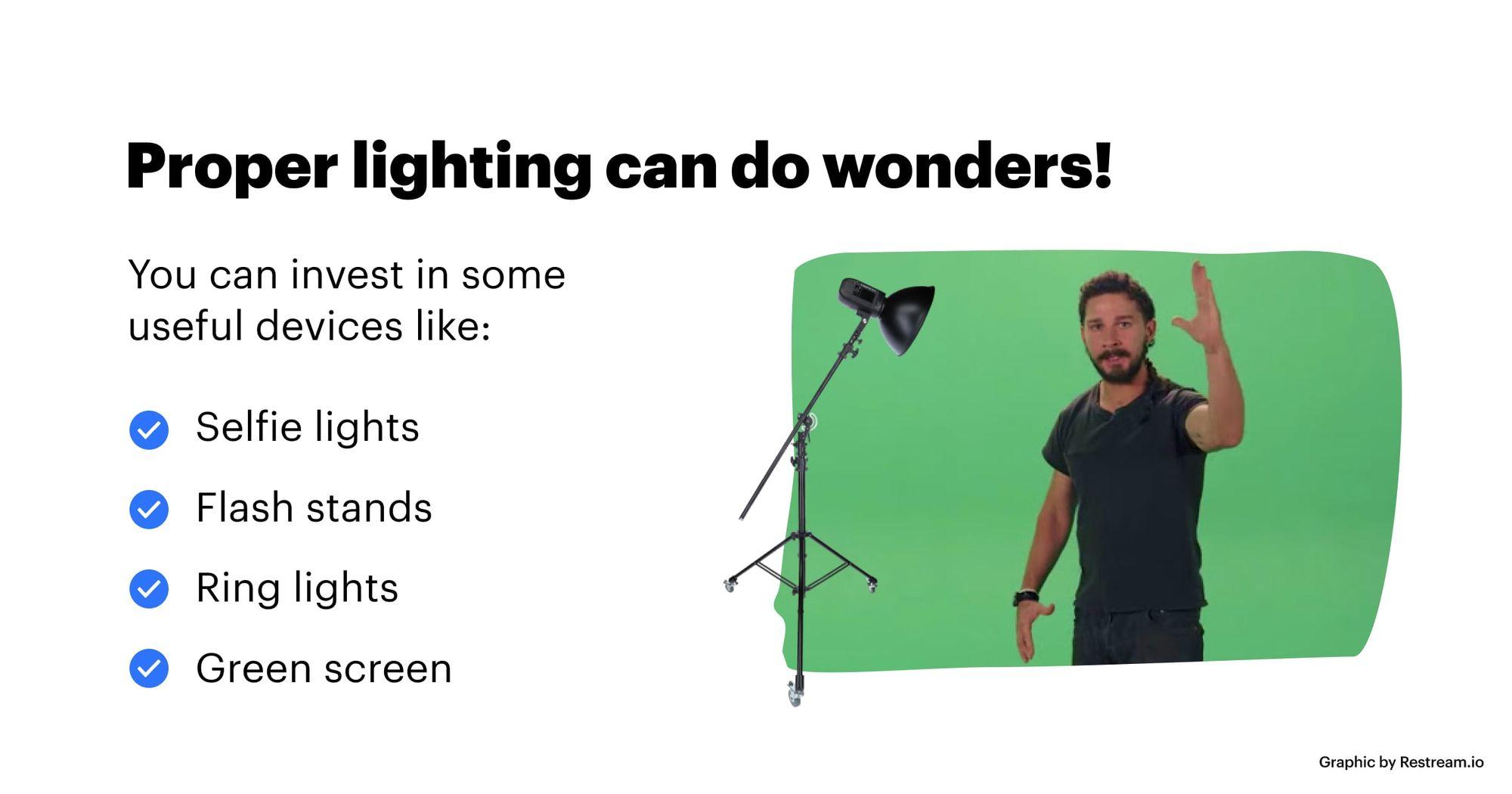 Proper lighting can do wonders!
