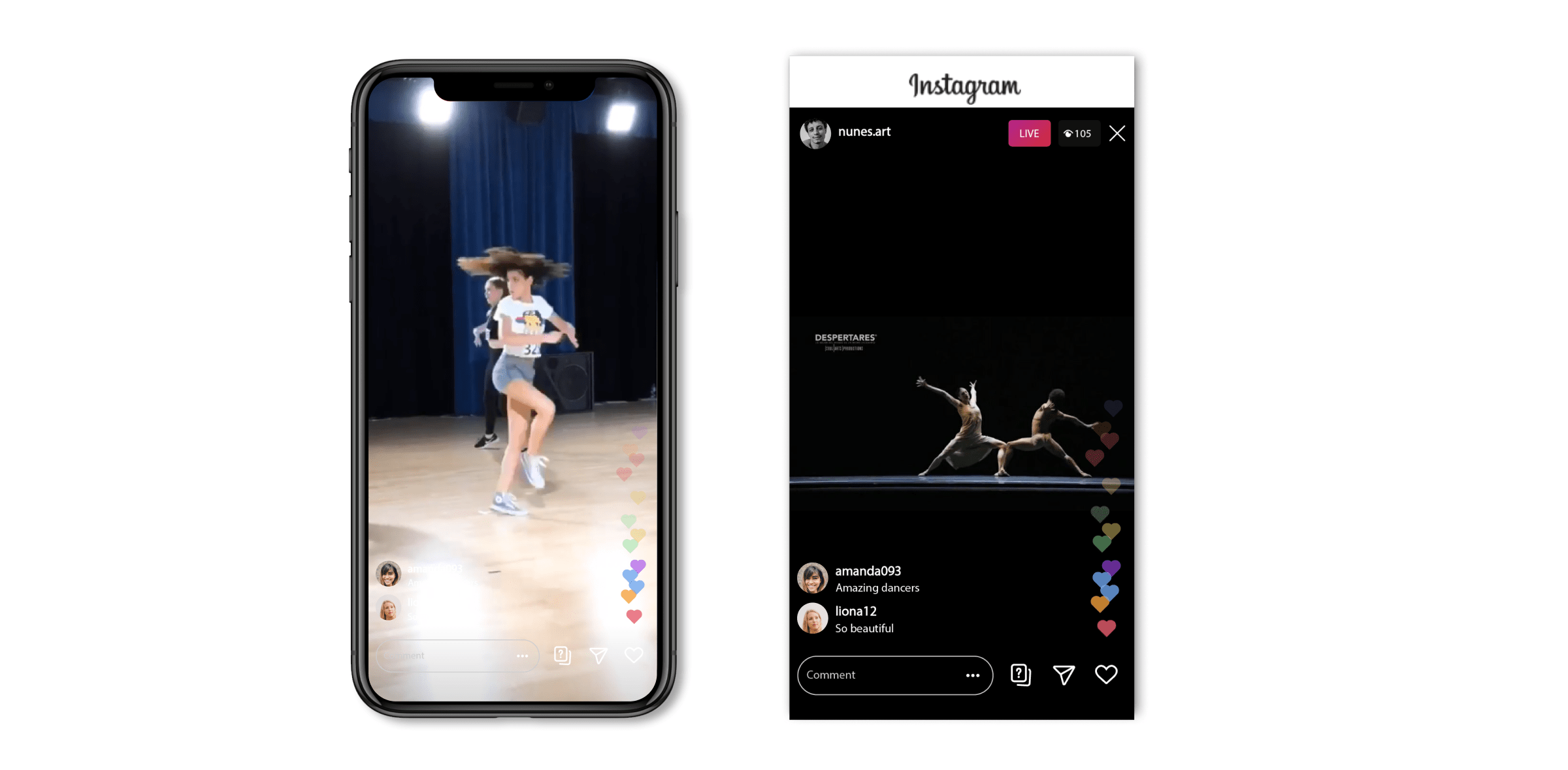 Live streaming dance classes on Instagram Live