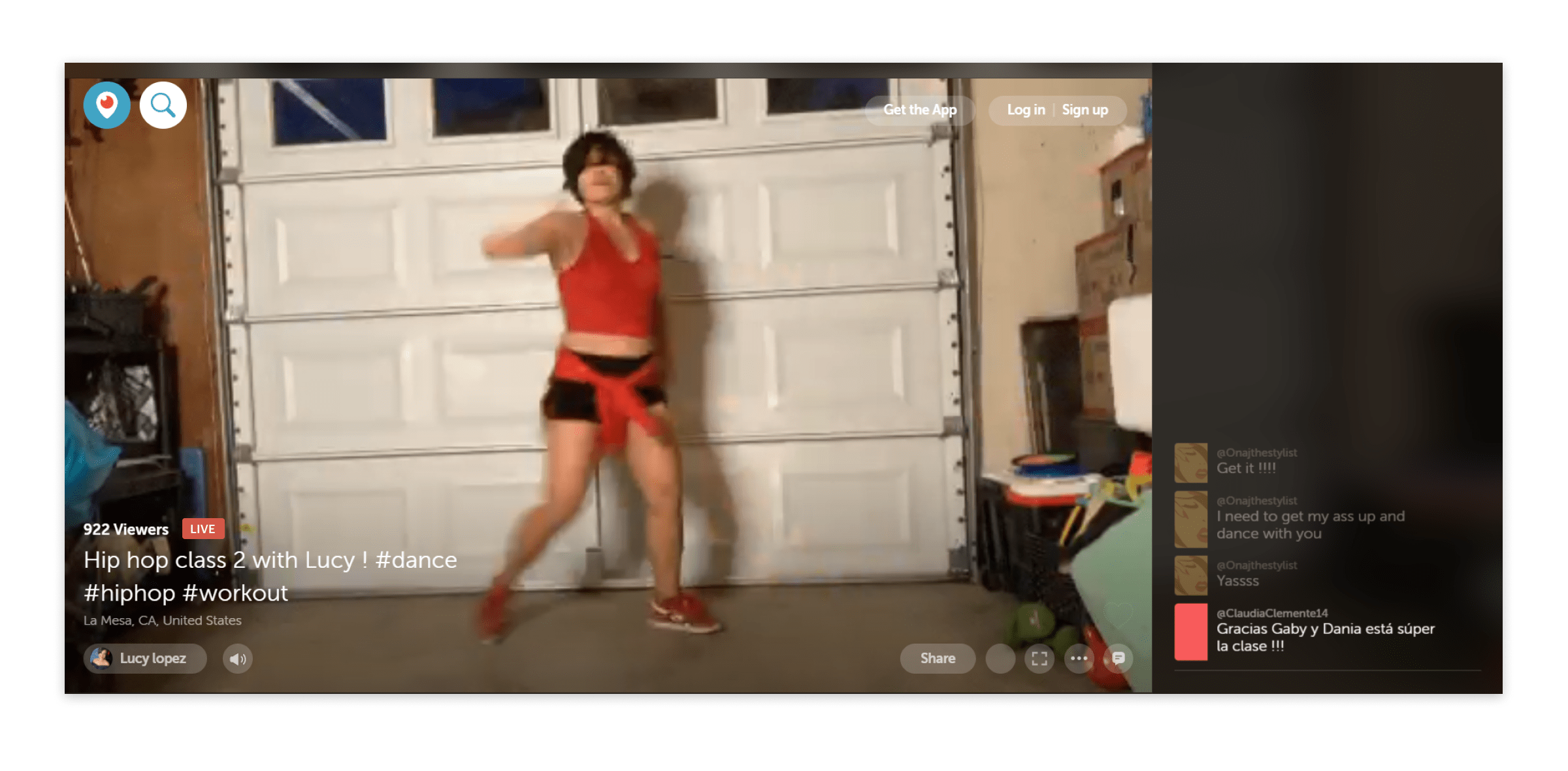 Live streaming dance classes on Periscope