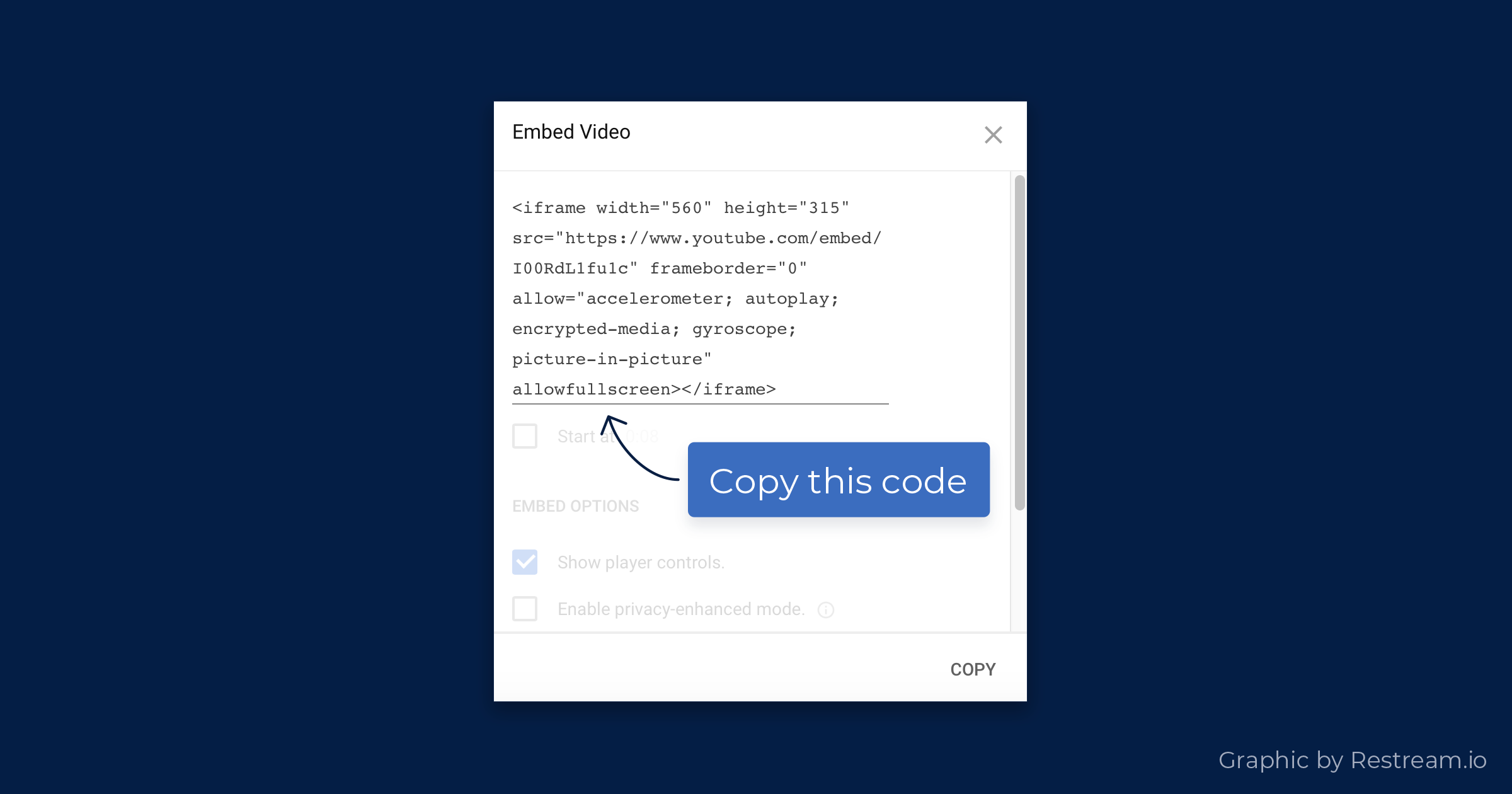 Copy this code