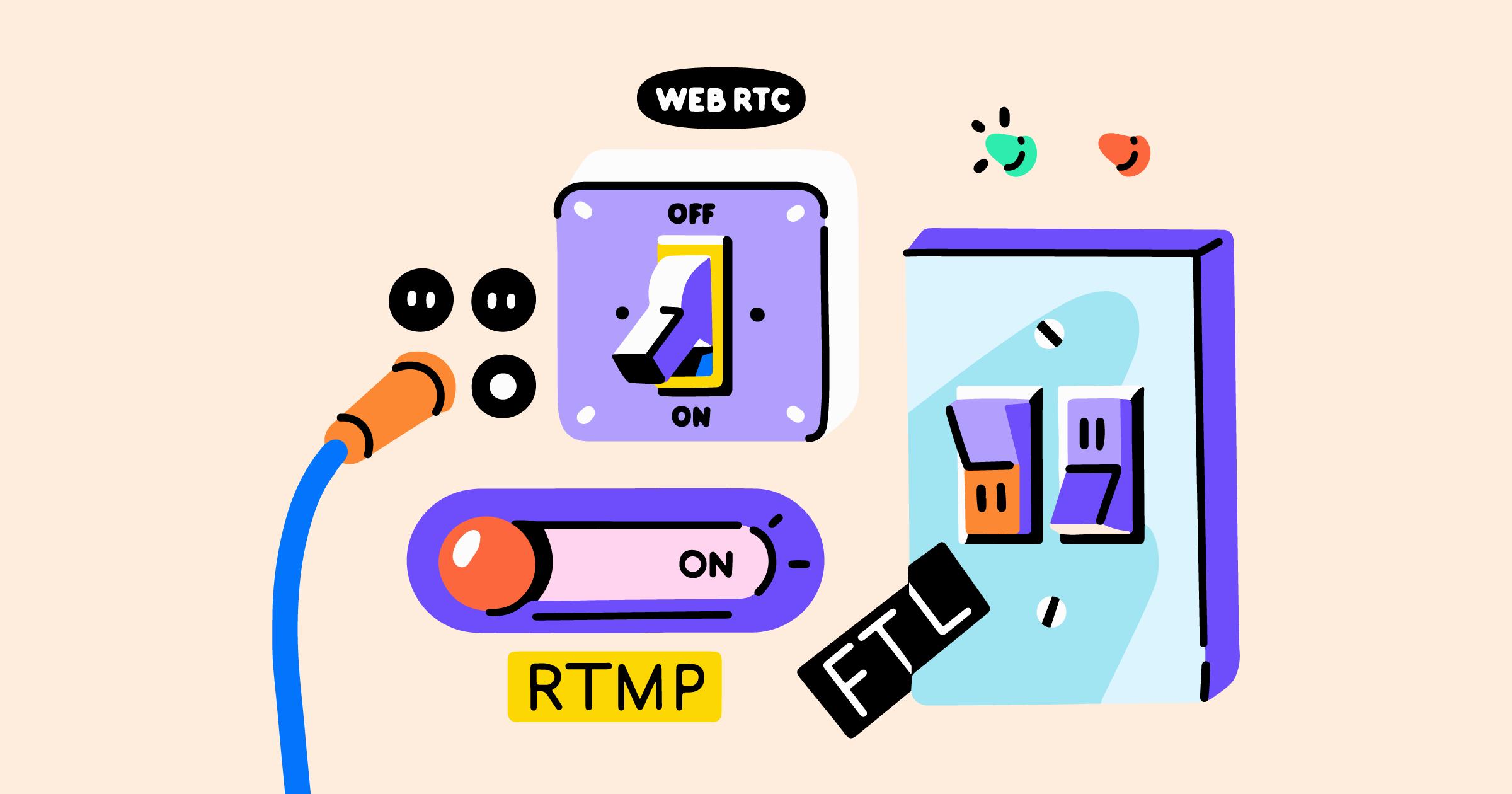 Video streaming protocols explained: RTMP, HLS, WebRTC, FTL