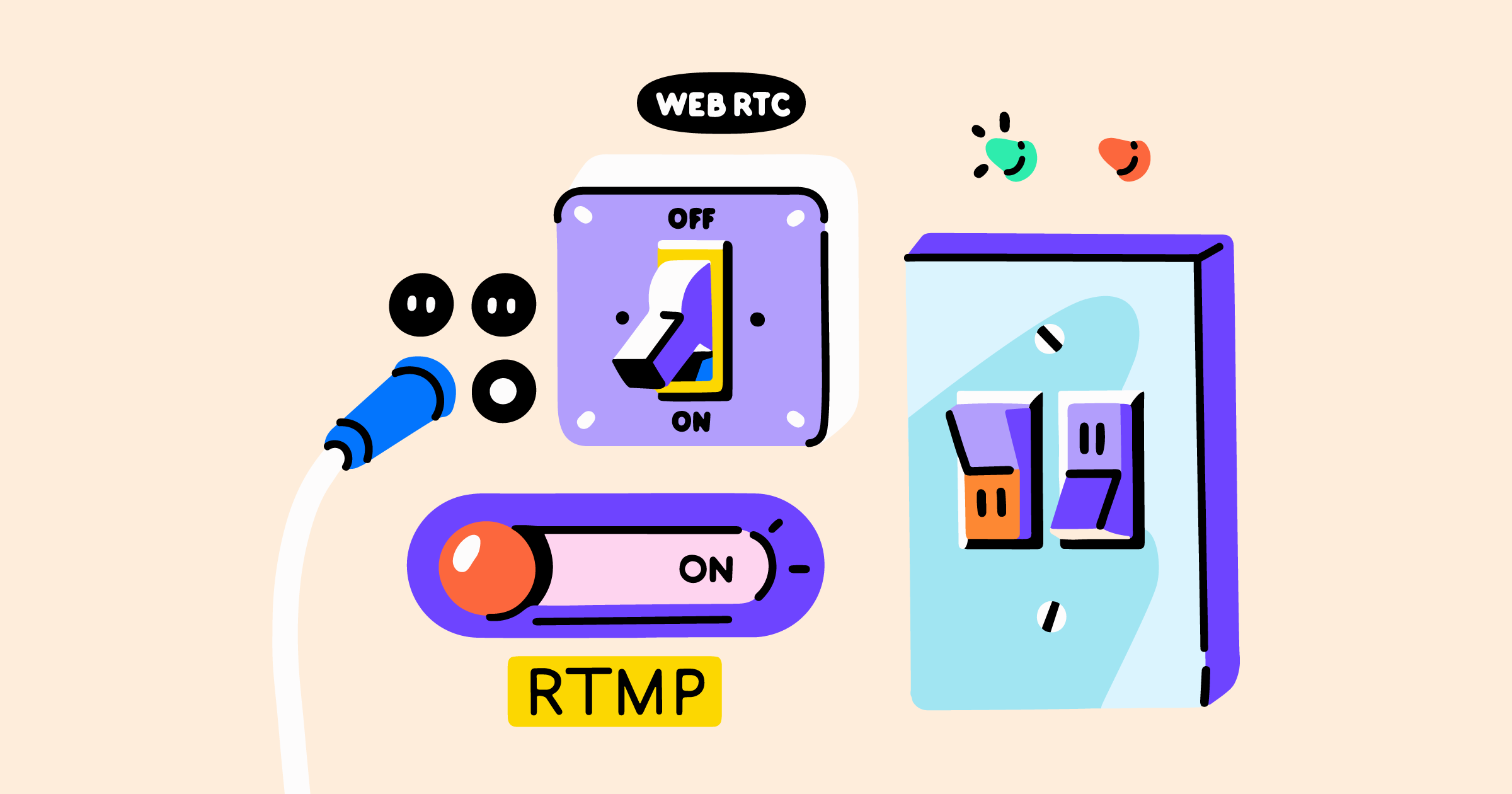 RTMP, WebRTC, FTL, SRT streaming protocols comparison