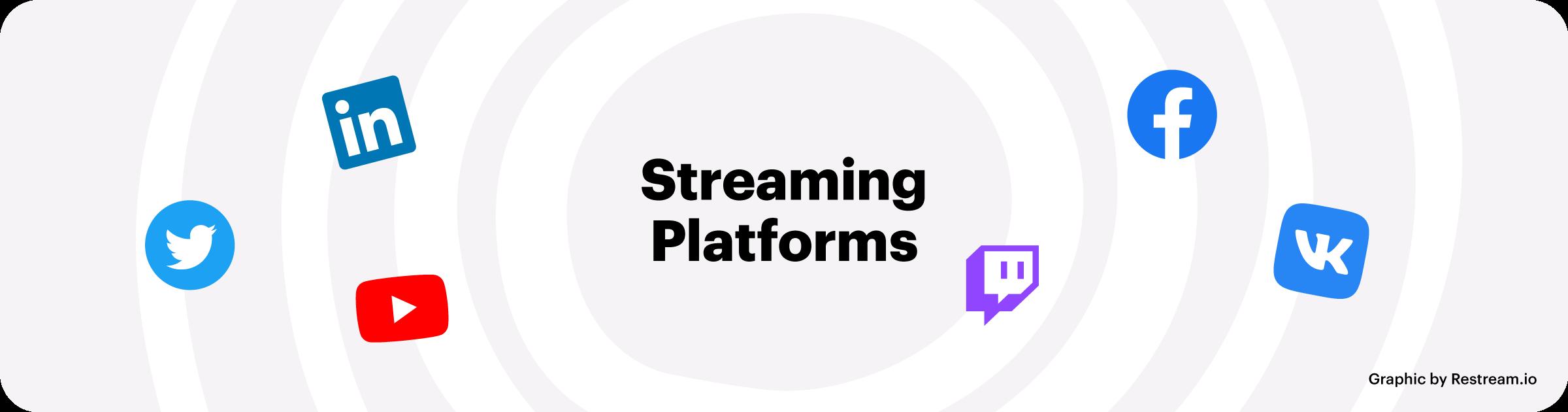 Popular live streaming platforms in 2020