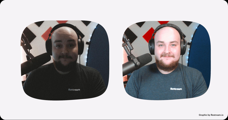 Live streaming with bad lighting vs. good lighting