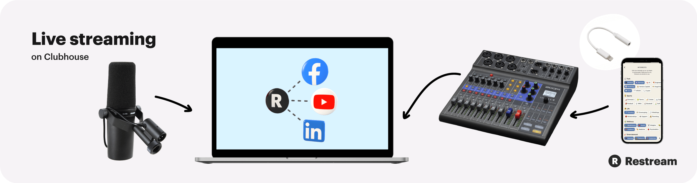 How to live stream on Clubhouse