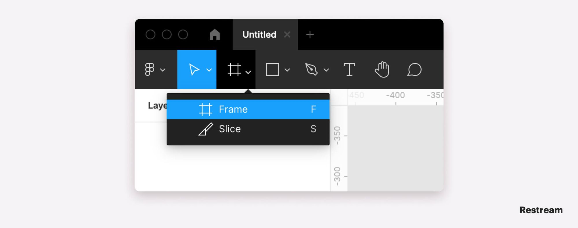 Creating new document in Figma