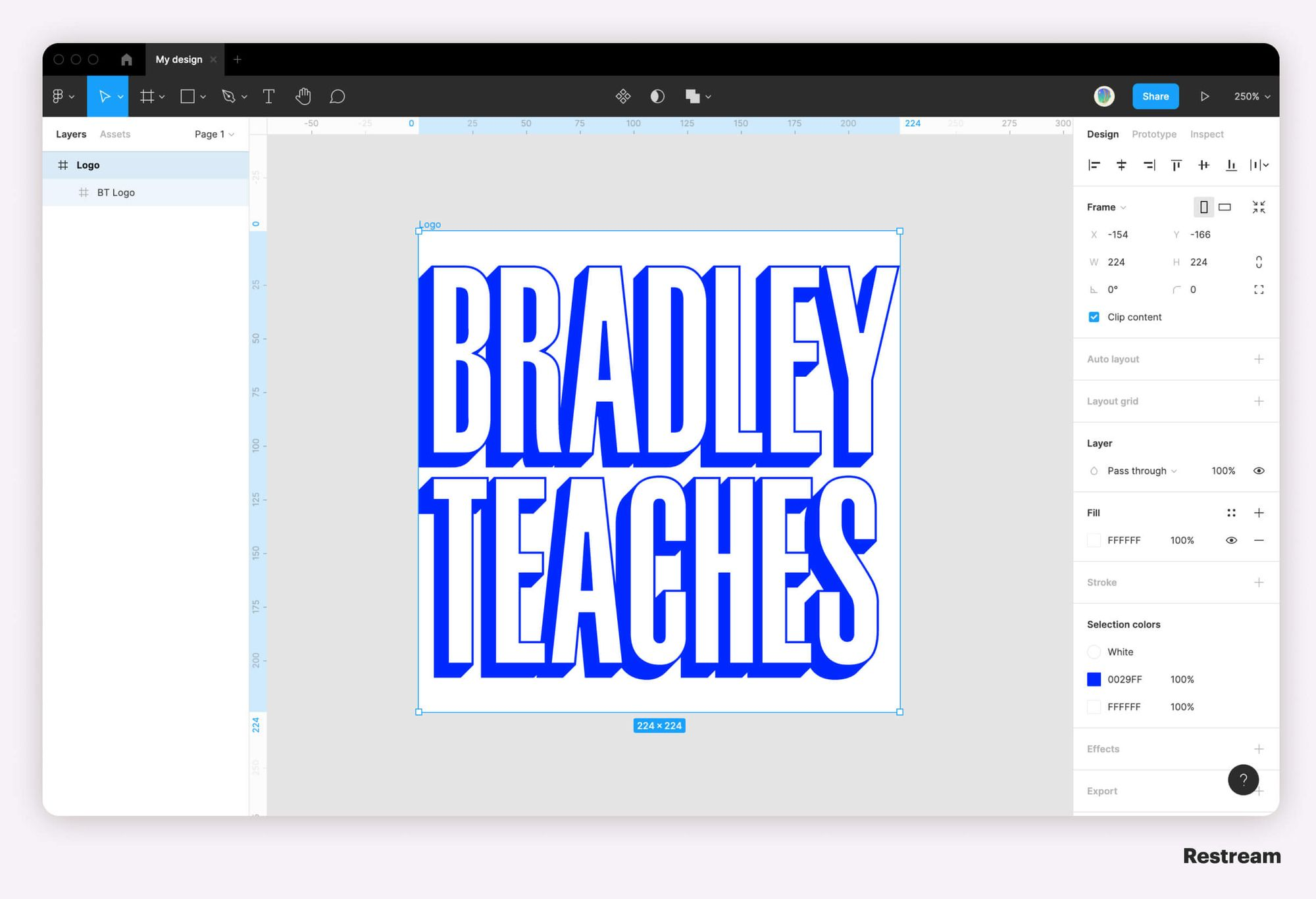 How to create logo for live stream