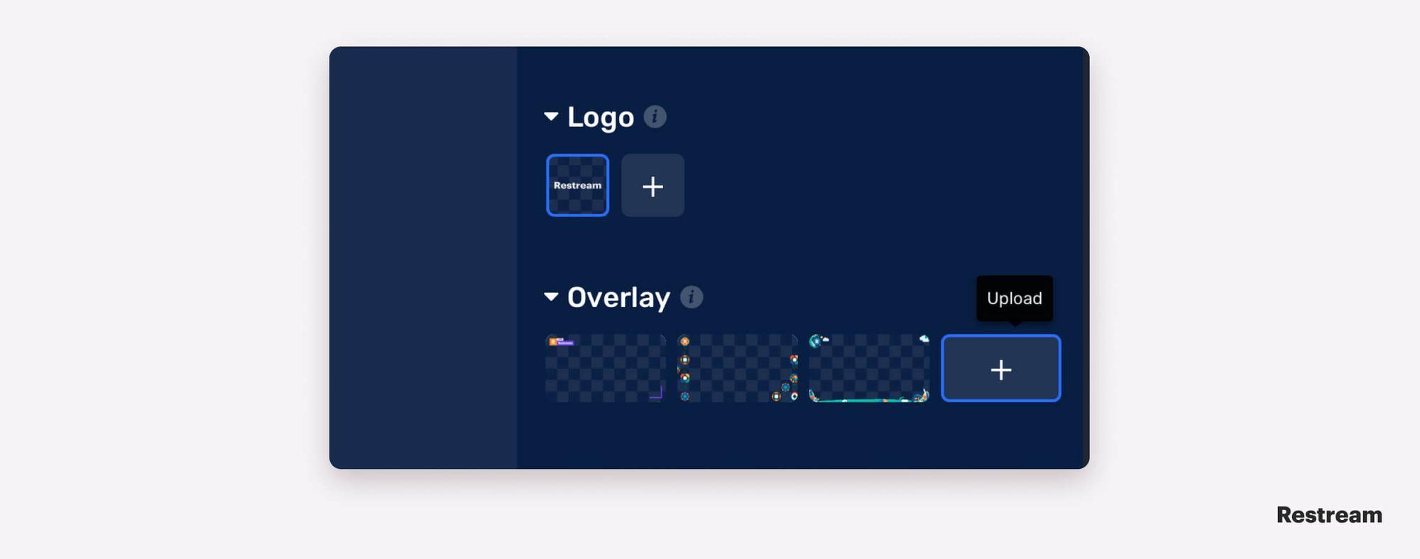 How to add graphics in Restream Studio