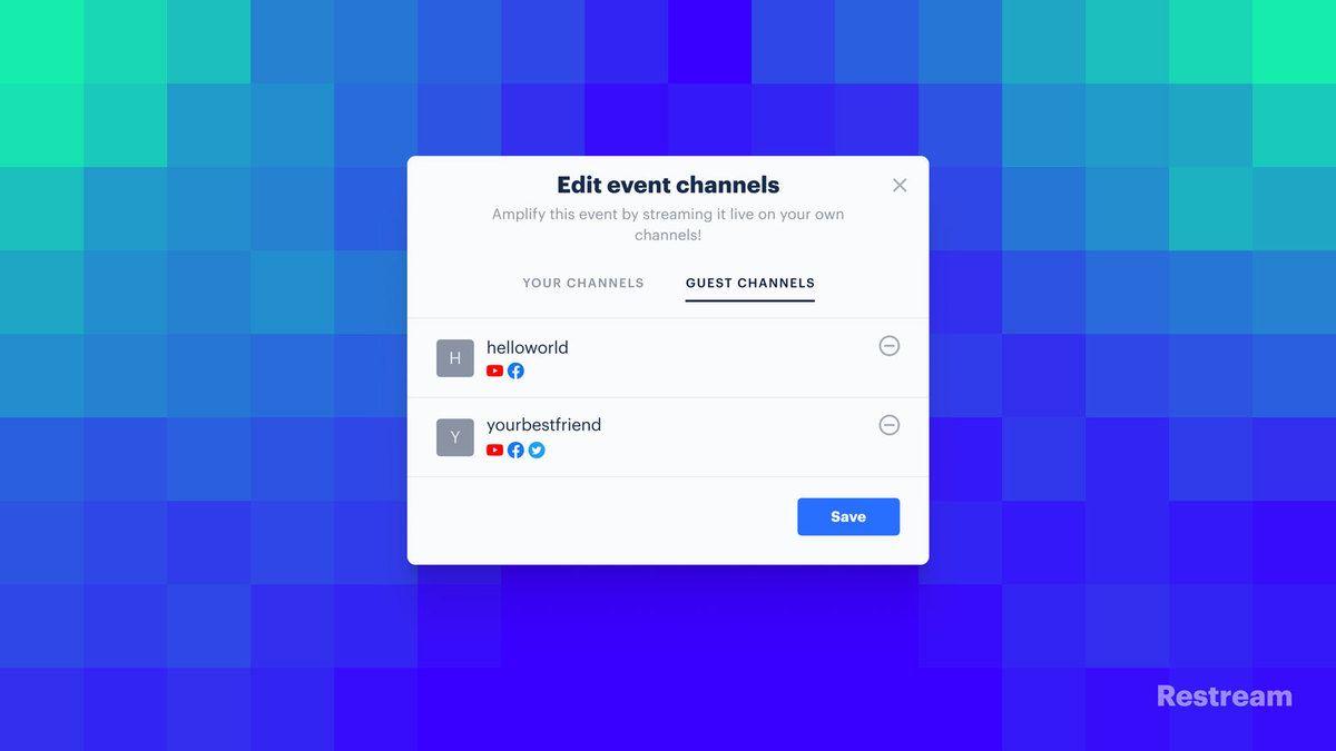 Restream Pairs — Edit event