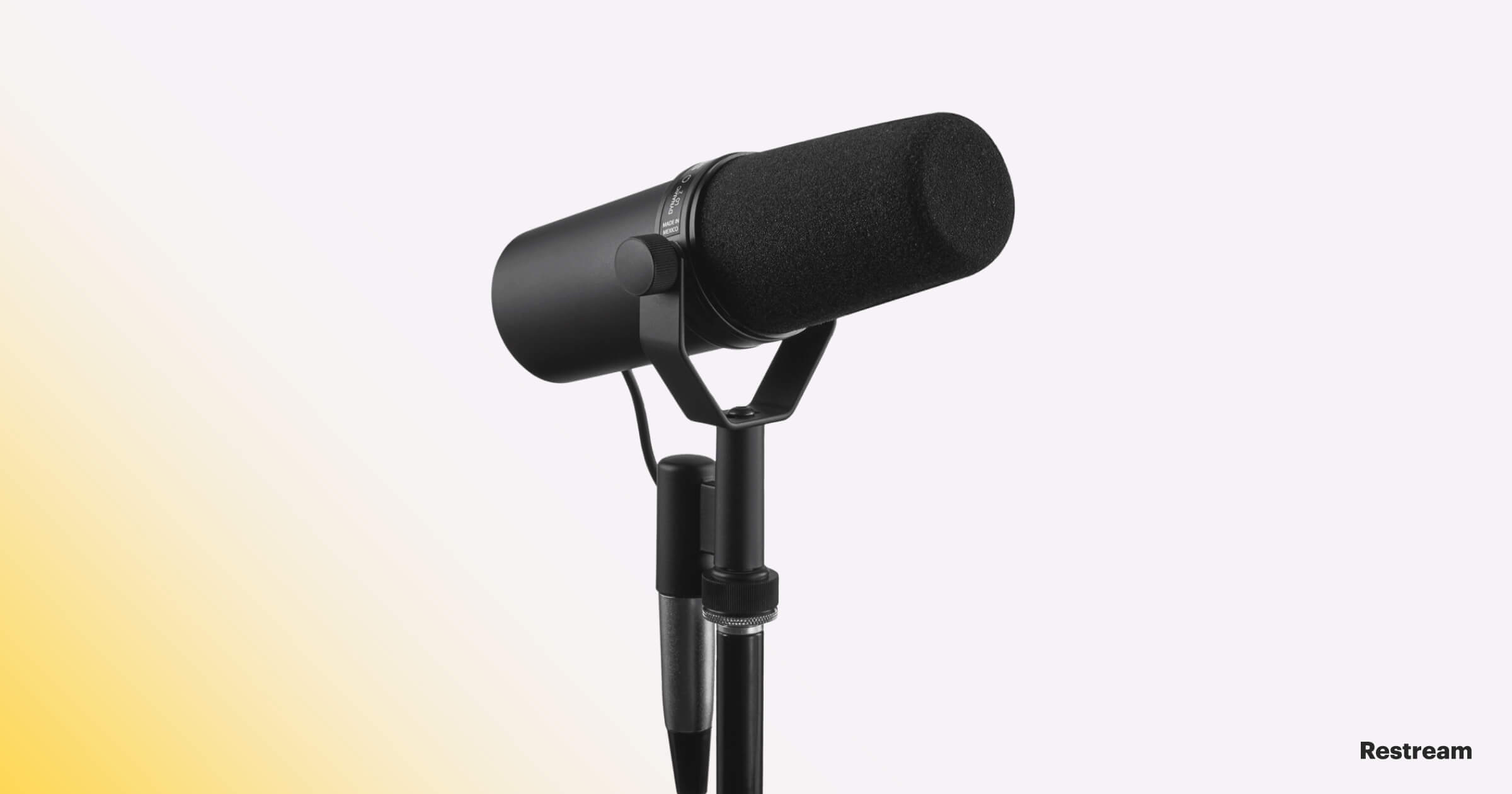 Microphone for streaming — Shure SM7B