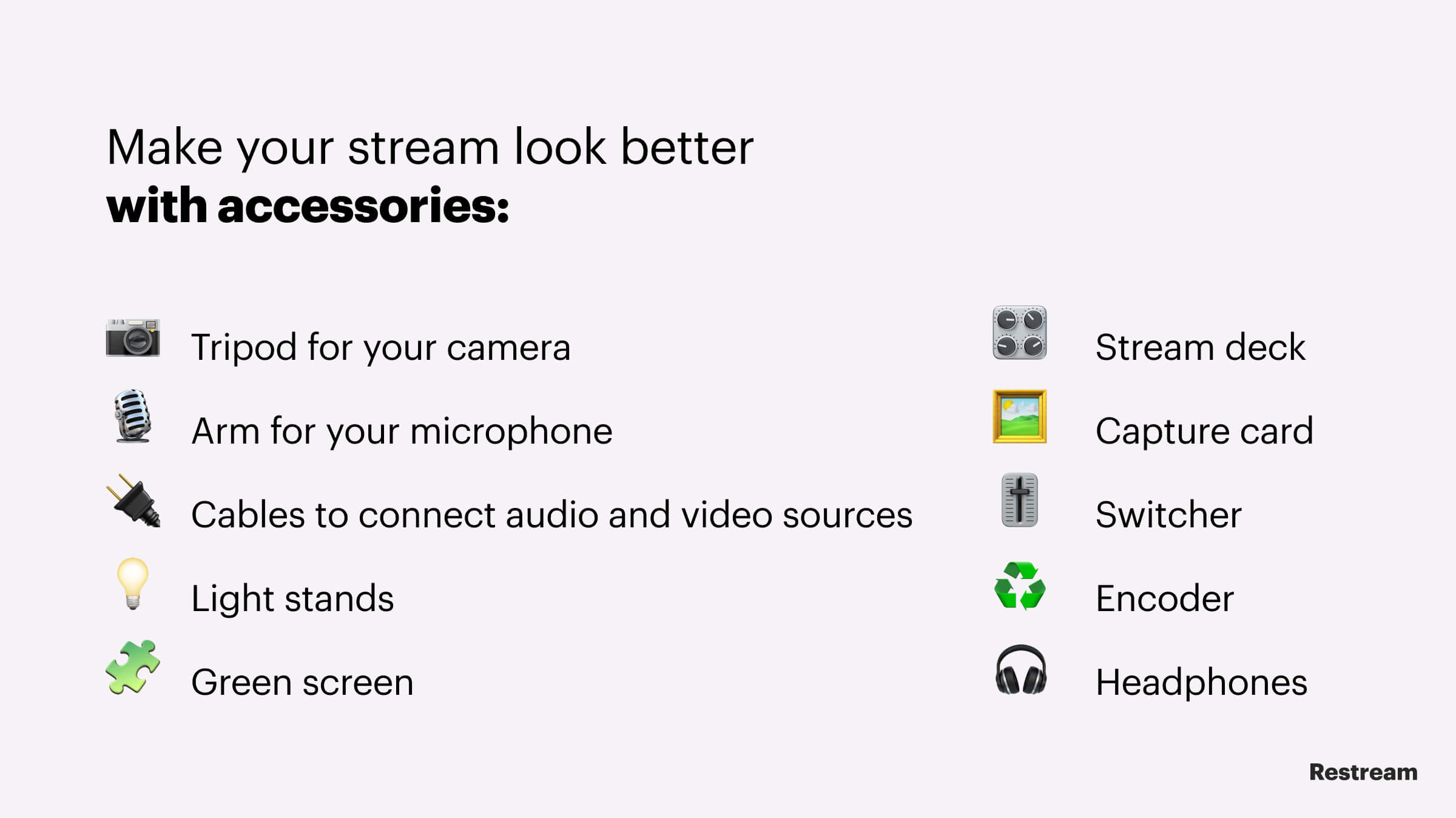 Accessories to make your stream look better