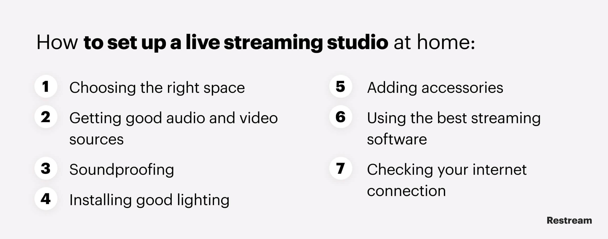 Checklist: How to set up a home live streaming studio