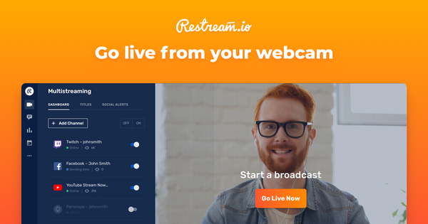 We're proud to present our new feature — Restream Go Live