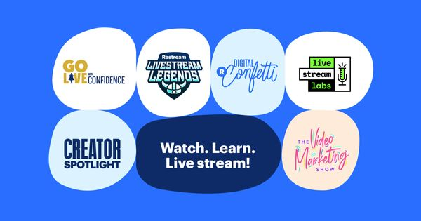 Level up your live streaming with Restream's live shows