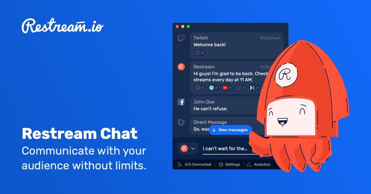Restream Chat – Cross-Platform Chat & Communication