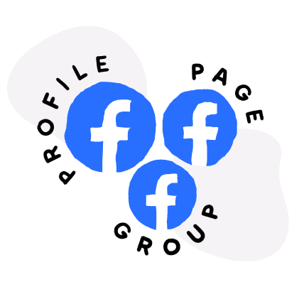 Facebook group, Facebook page and Facebook profile