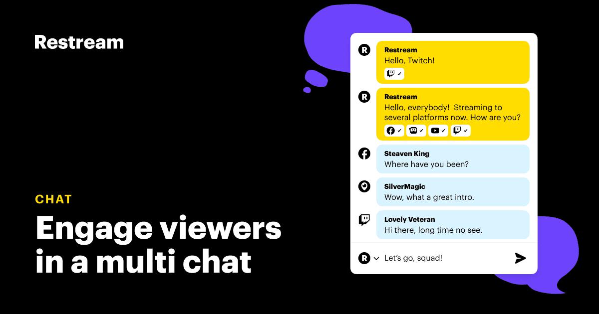 Cross Platform Chat Restream